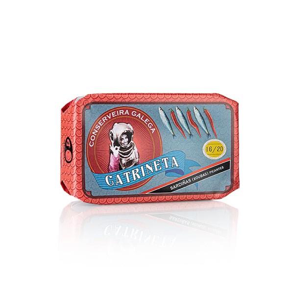Catrineta - Sardinen (sardinas picantes) ganz in Olivenöl und Chili Catrineta
