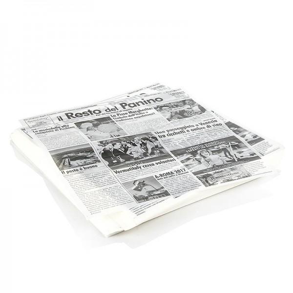 Deli-Vinos Kitchen Accessories - Snack Papier mit Zeitungspapierdruck ca.290x300mm 500 Blatt (il resto del pan)