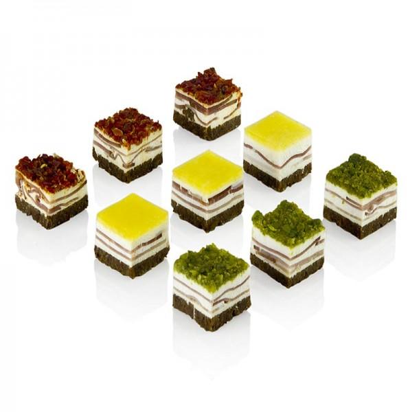 Deli-Vinos Snack Selection - Schinkenkonfekt Schwarzwälder Rohschinken/Pumpernickel/Frischkäse TK
