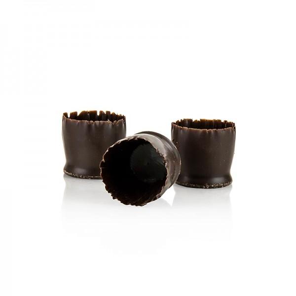 Callebaut - Schokoform - Snobinettes dunkle Schokolade ø 23-27mm 26mm hoch Mona Lisa