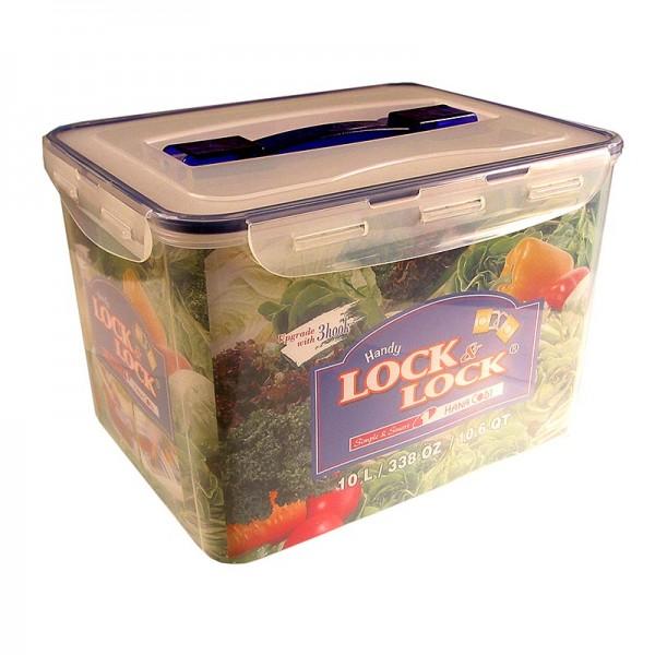 Lock & Lock - Frischebox Lock & Lock 10.0 l rechteckig 294x230x205mm mit Griff&Ablaufgitter