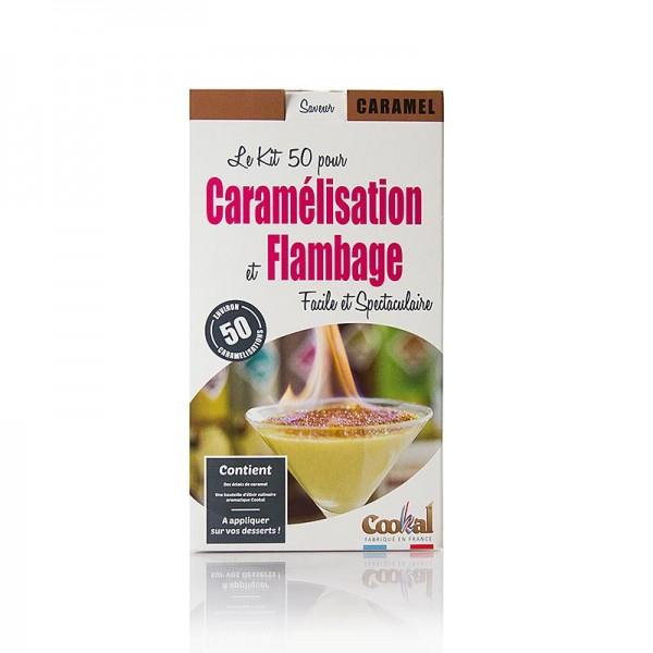 Cookal - Crème Brûlée Set Karamel karamelisieren mit Flambieressenz 50 Portionen