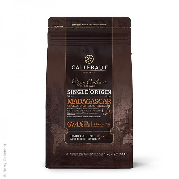 Callebaut - Origine Madagascar dunkle Couverture Callets 67.4% Kakao