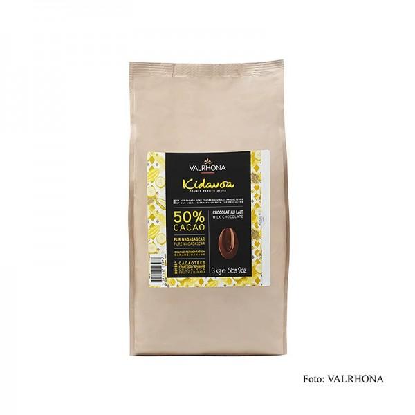 Valrhona - Valrhona Kidavoa Couverture doppelt fermentiert 50% Kakao Callets