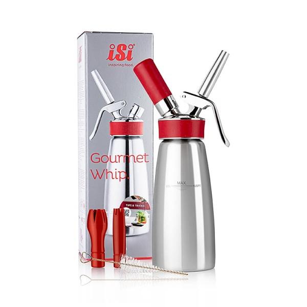 iSi Gourmet Whip - Espuma - Sprayer Gourmet Whip Plus komplett Edelstahl matt 500 ml rot