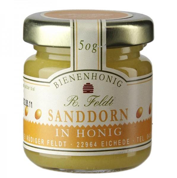 R. Feldt Bienenhonig - Sanddorn in Honig harmonisch mild-fruchtig Portionsglas