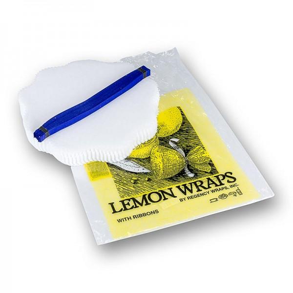 The Original Lemon Wraps - The Original Lemon Wraps - Zitronenserviertuch weiß mit blauer Krawatte