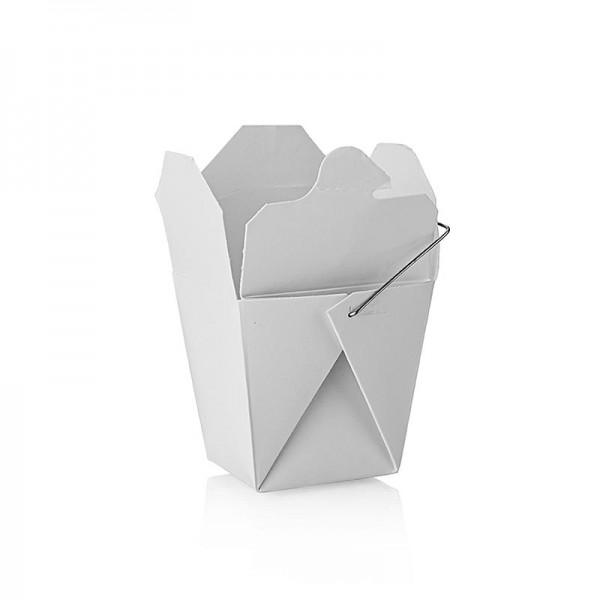 Deli-Vinos Kitchen Accessories - Einweg Take Away Box Asia unbedruckt mit Henkel 250ml