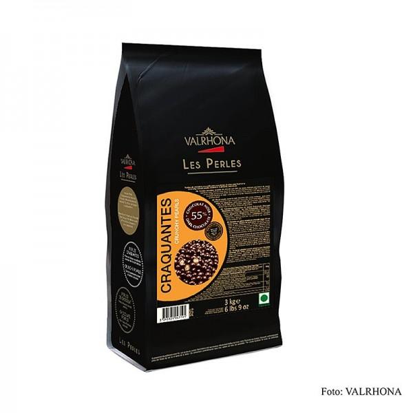 Valrhona - Knusprige Perlen Getreidefüllung mit Schokoüberzug 55% Kakao Valrhona