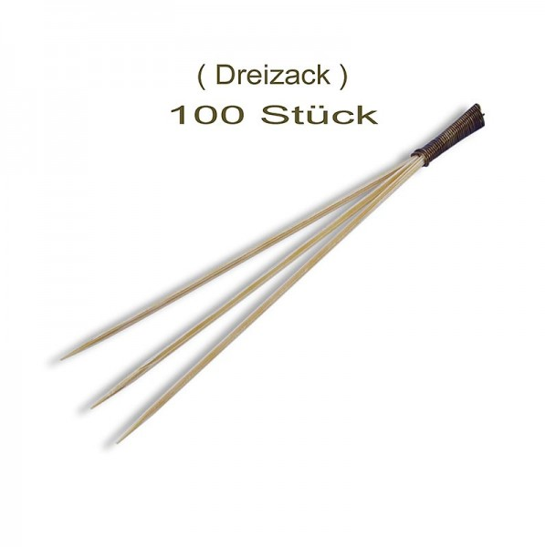 Deli-Vinos Kitchen Accessories - Bambus-Spieße mit 3 Zacken 9cm