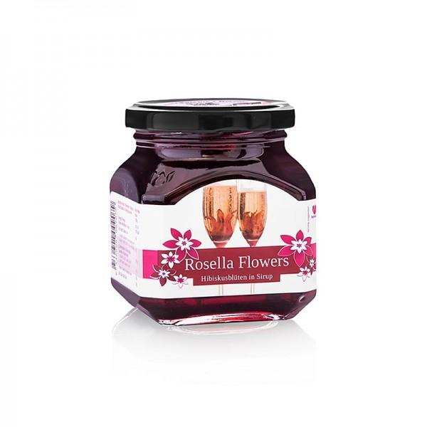 Wild Rosella - Australien Wild Rosella in Sirup 8 wilde Hibiskusblütenkelche