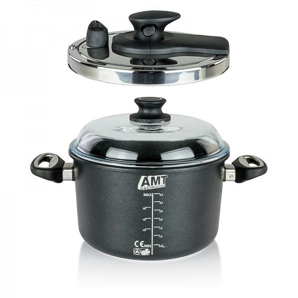 AMT Gastroguss - AMT Gastroguss Schnellkochtopf mit Deckel Induktion ø 24cm
