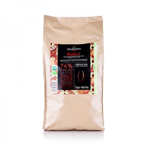 Valrhona - Valrhona Millot dunkle Couverture 74% Kakao Callets (31508) BIO