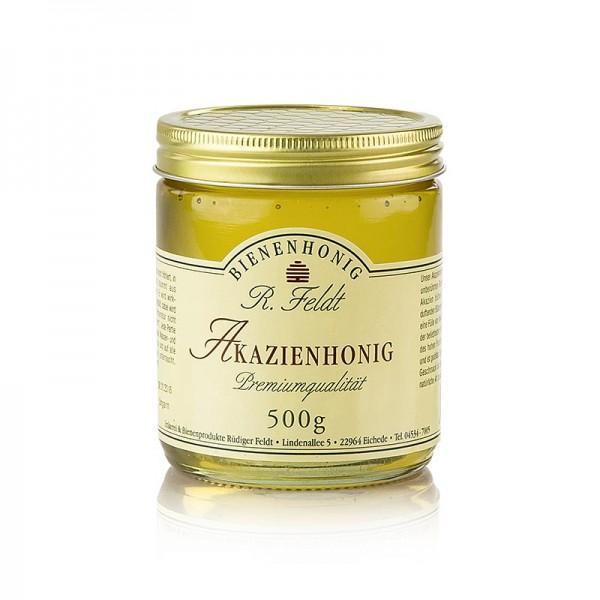 R. Feldt Bienenhonig - Akazien-Honig Ungarn leicht goldfarben flüssig zart-lieblich gut zum Süßen