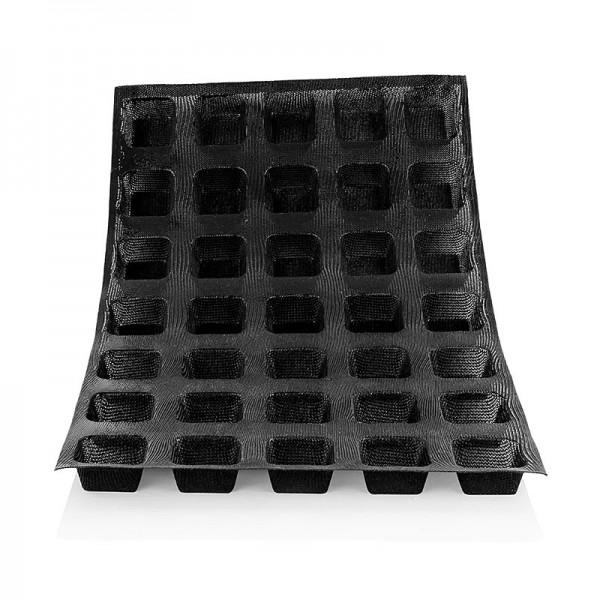 Flexipan - Silform Matte 60x40cm 35 quadratische Brötchen.56x56mm 24mm tief No.1133