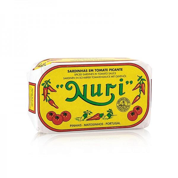 Nuri - Sardinen ganz in Olivenöl & pik.Tomatensauce 3-5 Stück Nuri (Portugal)