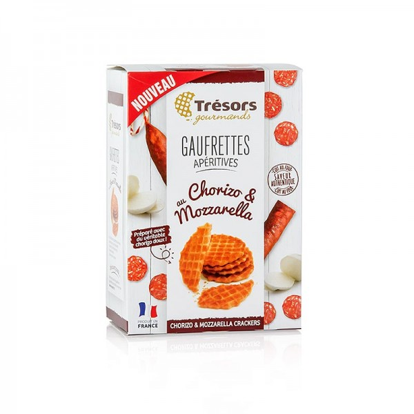 Barsnack Tresors - Barsnack Trésors- franz. Mini-Waffeln mit Chorizo & Mozzarella 60g