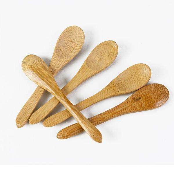 Deli-Vinos Kitchen Accessories - Bambuskaffeelöffel dunkel-braun 9cm spülmaschinenfest 100 Stück (OG)
