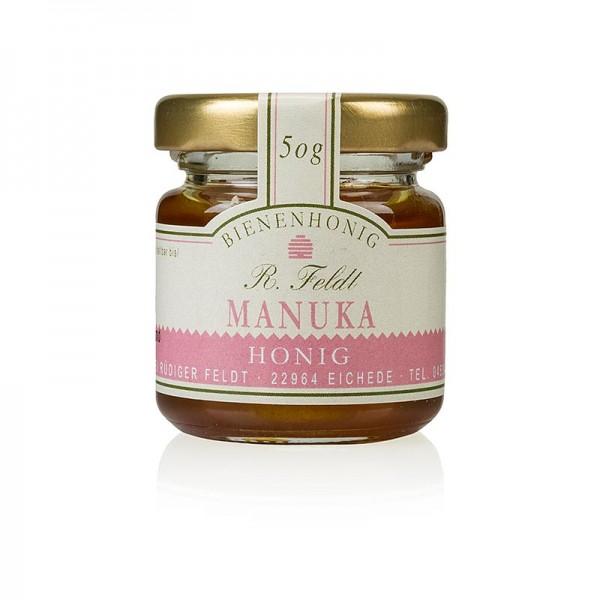 R. Feldt Bienenhonig - Manuka-Honig (Teebaum) Neuseeland dunkel flüssig kräftig Portionsglas