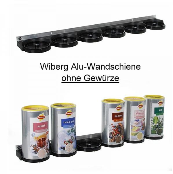 Wiberg - Alu-Wandschiene für 6 Wiberg-Dosen mit Magneten