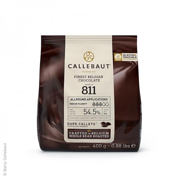 Callebaut - Zartbitter Schokolade (54.5%) Callets Couverture 400g Callebaut (811-E0-D94)
