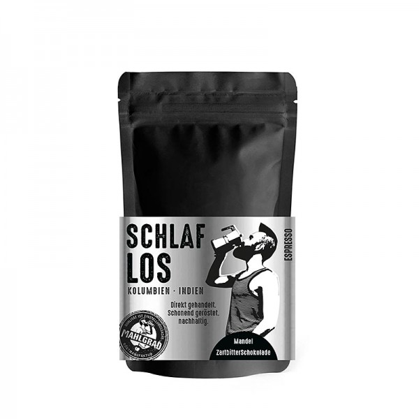 Mahlgrad - Mahlgrad - Schlaflos 70% Robusta/ 30% Arabica Espresso ganze Bohnen