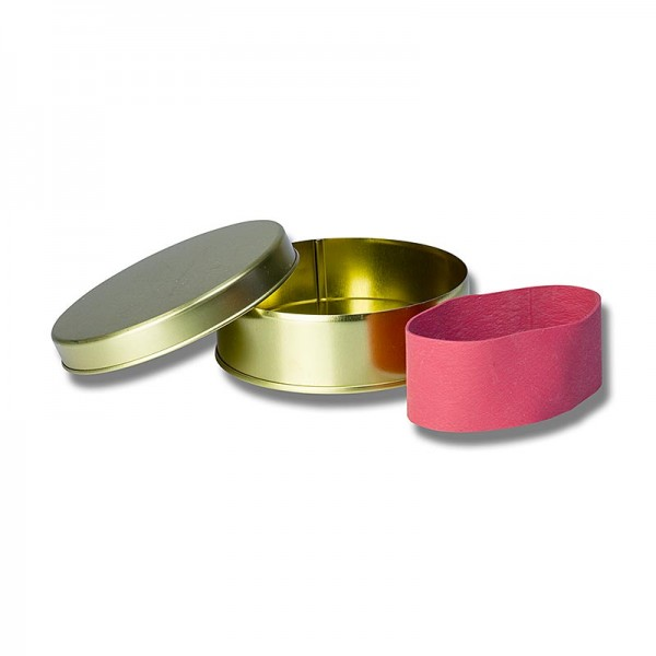 Deli-Vinos Kitchen Accessories - Kaviardose - gold unbedruckt mit Verschluss-Gummi für 125g Kaviar