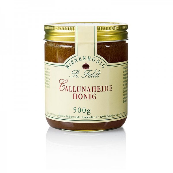 R. Feldt Bienenhonig - Callunaheide-Honig rotbraun cremig kräftiges Aroma