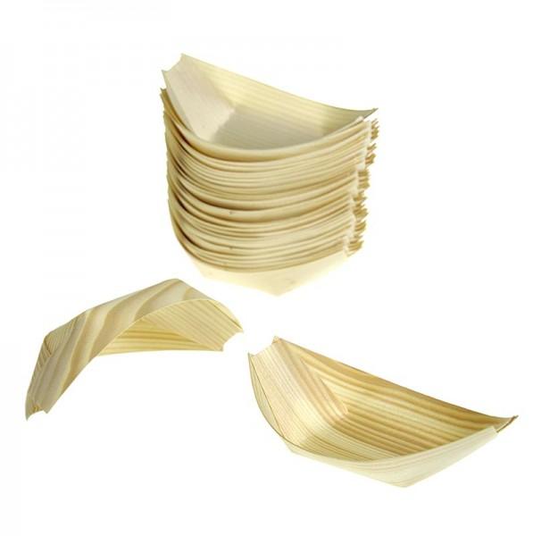 Deli-Vinos Kitchen Accessories - Einweg Boot aus Holz ca. 8.5cm hitzebeständig bis 180° C