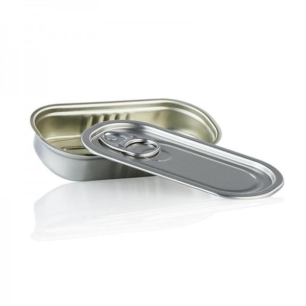 Deli-Vinos Kitchen Accessories - Dose mit Deckel zum Füllen rechteckig 105x50x20mm 60ml Alu säurebeständig