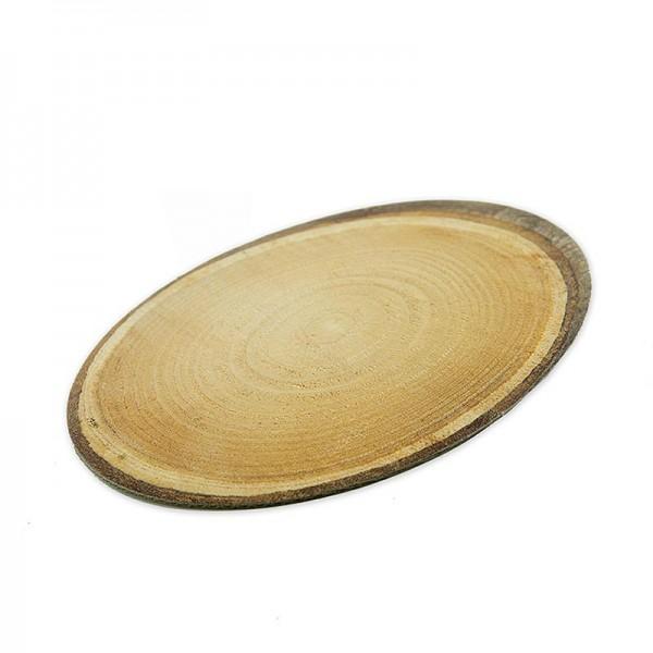 Famulus Verpackungen - Dekoplatte Baumscheibe aus Pappe -S- oval 200x150mm