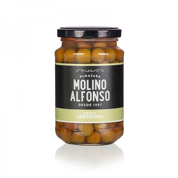 Molino Alfonso - Grüne Oliven Arbequina mit Kern in Lake Molino Alfonso