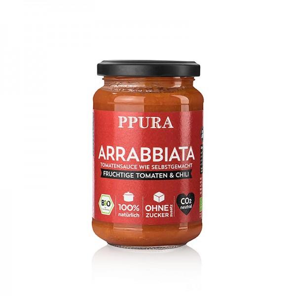 Ppura - Ppura Sugo Arrabbiata - mit Tomaten Knoblauch und Chili BIO