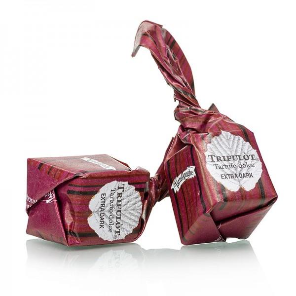 Tartuflanghe - Mini Trüffelpralinen - Dolce d´Alba extra dunkle Schokolade ca.7g schwarz/rot