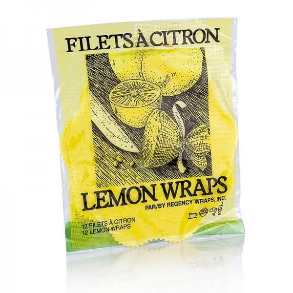 The Original Lemon Wraps - The Original Lemon Wraps - Zitronenserviertuch gelb mit grüner Krawatte