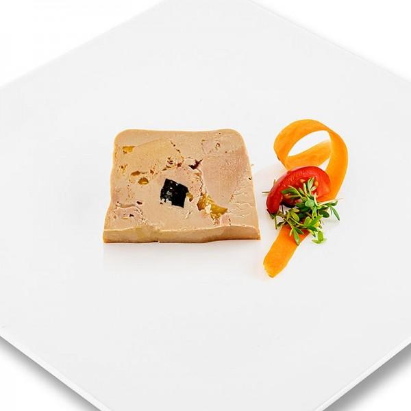 Rougie - Gänseleberblock mit Stücken 3% Trüffel 95% Foie Gras Trapez Rougié