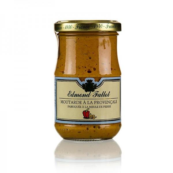 Fallot - Dijon Senf mit Paprika und Knoblauch fein scharf (provencale)