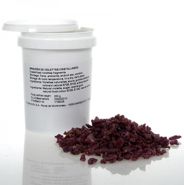 Flor & Flor - Echte Veilchen-Blüten Brisures-Stückchen violett kandiert essbar Flor & Flor