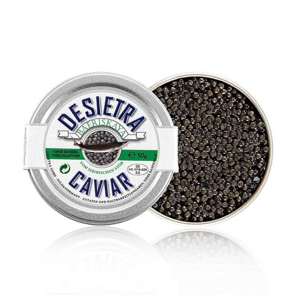 Desietra Baeriskaya - Desietra Baeriskaya Kaviar (baerii) Aquakultur,ohne Konservierungsm.