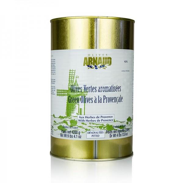Arnaud - Grüne Oliven mit Kräutern der Provence ohne Kern in Lake Arnaud