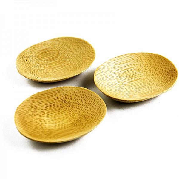 Deli-Vinos Kitchen Accessories - Bambusschale braun oval 7.7x6.3cm spülmaschinenfest 25 Stück