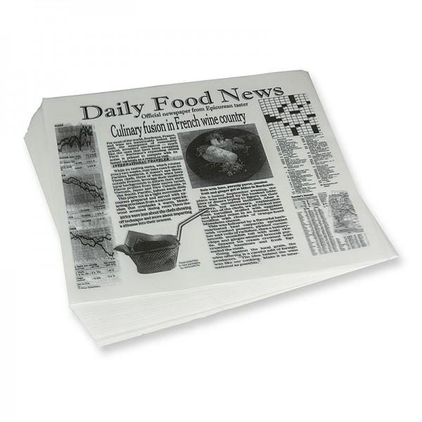 Deli-Vinos Kitchen Accessories - Snack Papier mit Zeitungspapierdruck ca.310x285mm Daily News