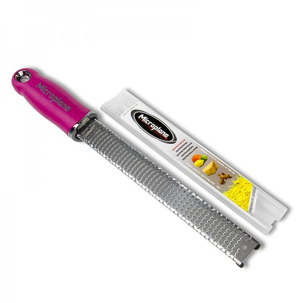 Microplane - Premium Classic - Stab Zesten Reibe Griff pink/soft-touch
