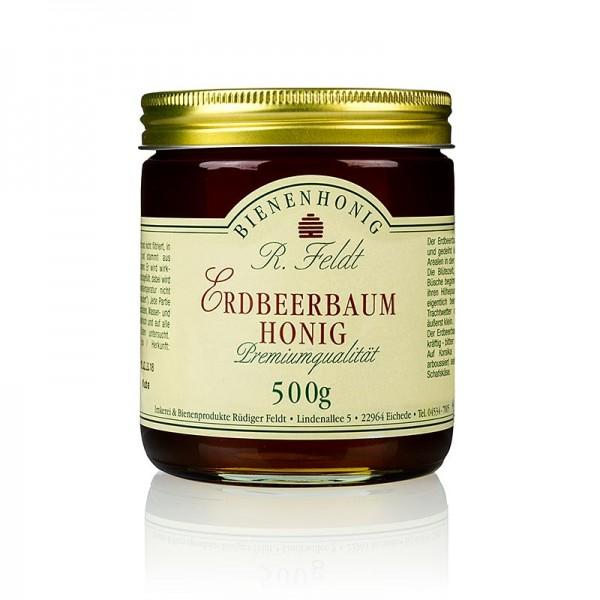 R. Feldt Bienenhonig - Erdbeerbaum-Honig hell-bernsteinfarben bitter-süß