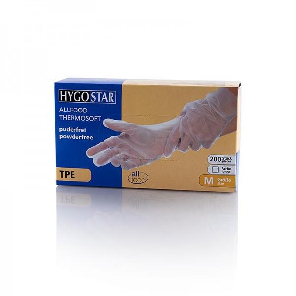 Hygo-Stars - Einweghandschuhe TPE Allfood Thermosoft transp. M Hygostar