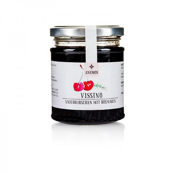 Anemos - Vissino Sauerkirschen süß eingelegt mit Honig und Rosmarin ANEMOS