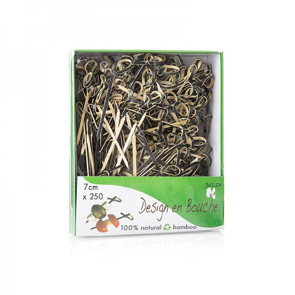 Deli-Vinos Kitchen Accessories - Bambus-Spieße Knoten schwarz 7cm