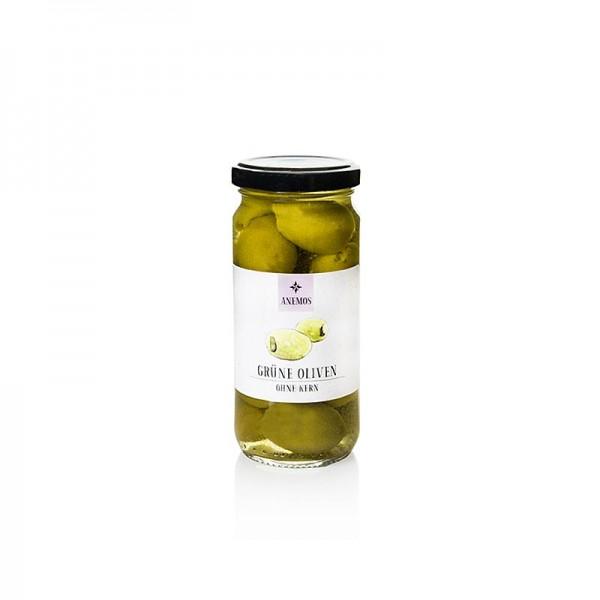 Anemos - Grüne Oliven ohne Kern in Lake ANEMOS