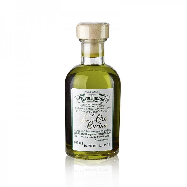 Tartuflanghe - L´Oro Olivenöl Extra Vergine m. weißer Trüffel & Aroma (Trüffelöl) Tartuflanghe