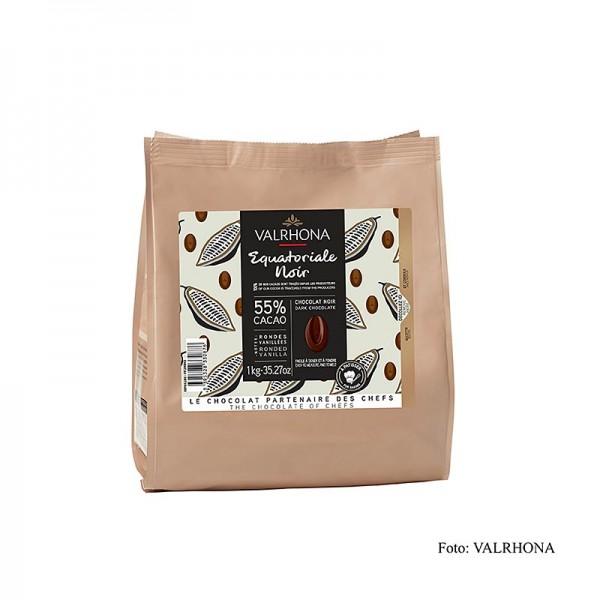 Valrhona - Valrhona Equatoriale Noire 55% Callets Dunkle Couverture (4661)